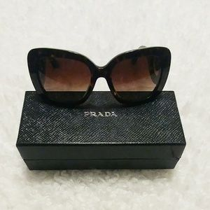 Prada Baroque Tortoise Shell Sunglasses